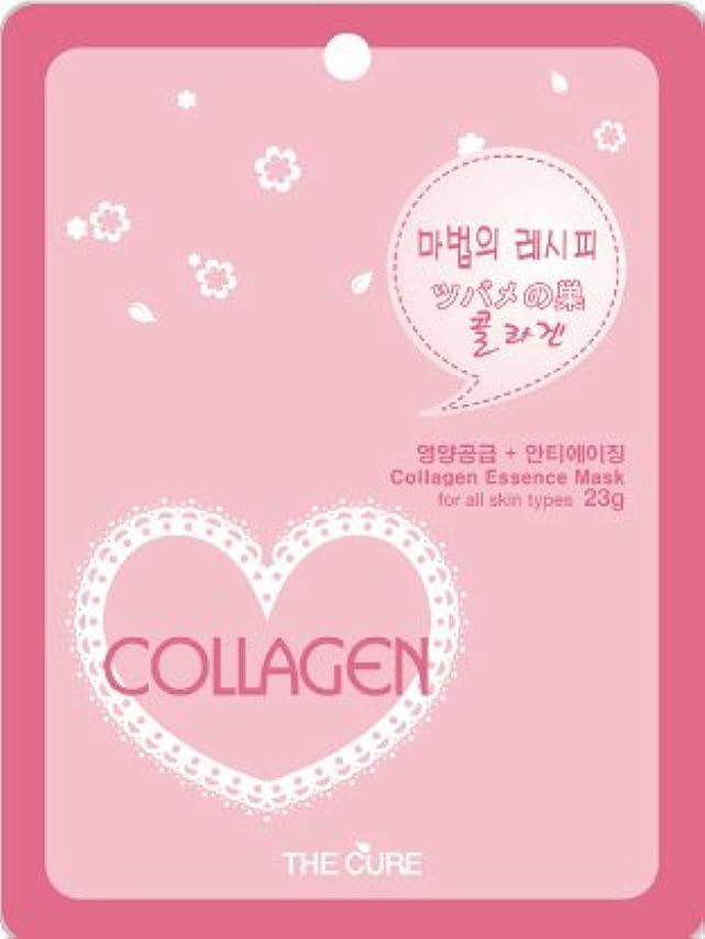 複合ライム耳コラーゲン エッセンス マスク THE CURE シート パック 10枚セット 韓国 コスメ 乾燥肌 オイリー肌 混合肌