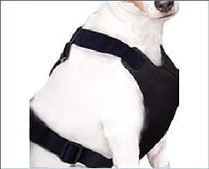 ZSR ハーネス リード 犬用 シートベルト [ エチケット袋 セット ] (黒, L-大型)