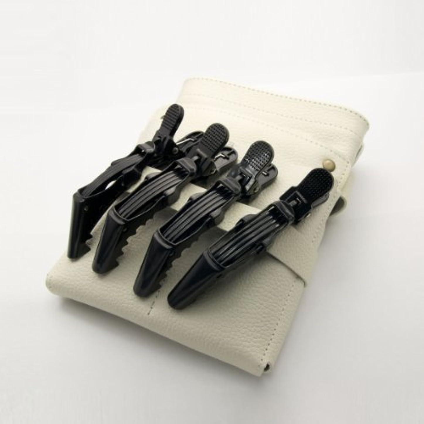 カード懲らしめぴかぴかDEEDS C-0010 プロ用 ワニクリップ ブラック 美容 クリップピン 黒 ヘアクリップ 美容小物