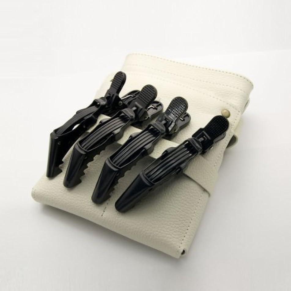 キノコ金額きらきらDEEDS C-0010 プロ用 ワニクリップ ブラック 美容 クリップピン 黒 ヘアクリップ 美容小物