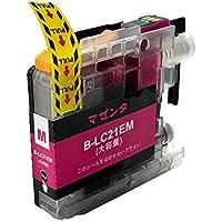 LC21eM 単品 ブラザー(brother)用互換インクカートリッジ ICチップ付 残量表示機能付 (LC21e)