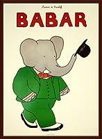 ポスター ジャン ド ブリュノフ Babar 1986年 額装品 ウッドベーシックフレーム(ブラウン)