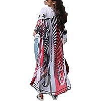 Bsubseach Womens Chiffon/Rayon Beach Blouses Kimono Cardigan Long Bikini Cover Up