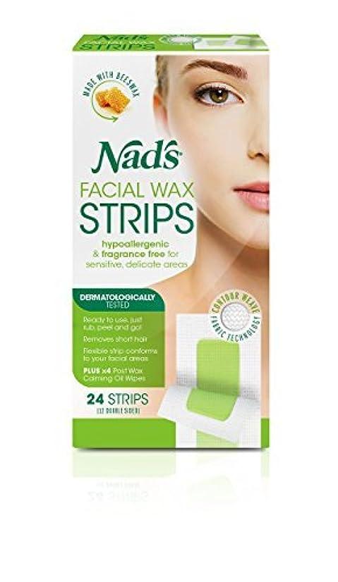 魅力的殺す私たちのものNad's Hypoallergenic Facial Wax Strips 24 strips (Pack of 2) [並行輸入品]