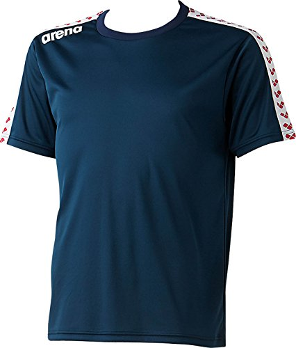 arena(アリーナ) 水泳 練習着 チームラインTシャツ 男女兼用 ARN-6331 ダークネイビー(DNY) L