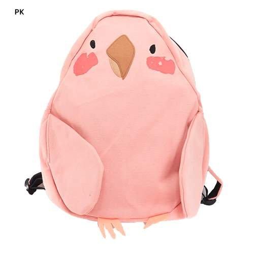 インコ[リュック]スウェットデイパック/パステル アニマル【ピンク 】
