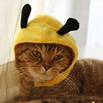 ZooooM なりきり アニマル 動物 モチーフ デザイン 猫 ネコ キャット 用 被り物 かぶりもの おしゃれ 簡単 装着 着せ替え ( ミツバチ Ver ) ZM-PC1410-HACHI