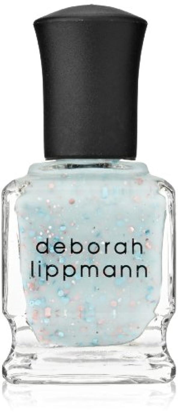 仲間、同僚一部木製[Deborah Lippmann] デボラリップマン グリッター イン ジ エアー/GLITTER IN THE AIR 透明感のあるクリーミーな水色のベースに ピンクとブルーのラメが入るかわいいカラー ふんわりした印象...