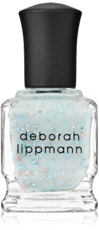 テスト人道的危機[Deborah Lippmann] デボラリップマン グリッター イン ジ エアー/GLITTER IN THE AIR 透明感のあるクリーミーな水色のベースに ピンクとブルーのラメが入るかわいいカラー ふんわりした印象の爪先に 容量15mL