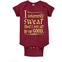 Diagon Alley Customs Unisex Baby I Solemnly Swear That I Am Up to No Good One Piece Bodysuit
