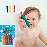 COODIO 6PCS/Set Baby Bathroom Crayons Washed Color Bath Toy for Fashion Jewelry
