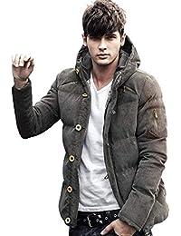 (マガザンレーブ) mgzan rev メンズ ファッション 冬 服 カジュアル ダウン ジャケット アウター フード 付き 防寒着 上着 3 色 M ~ XL DA-5 (01.カーキ(M))