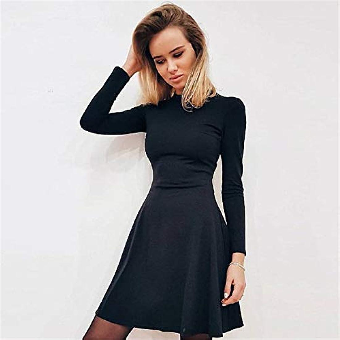 閉じるペアその間Maxcrestas - 秋と冬の新しい女性の長袖タイトフィットドレスの秋と冬のスリムでエレガントな品質のミニドレス
