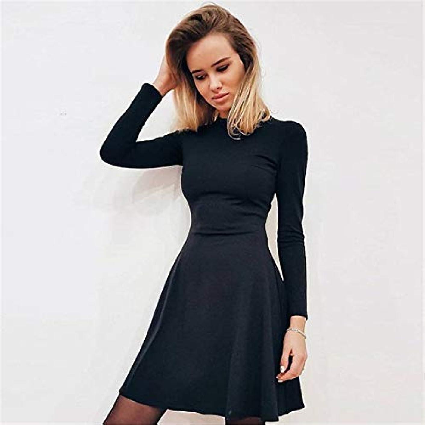 多分不足ぐったりMaxcrestas - 秋と冬の新しい女性の長袖タイトフィットドレスの秋と冬のスリムでエレガントな品質のミニドレス