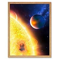 Space NASA Planet HD189733b Near Star Illustration Art Print Framed Poster Wall Decor 12x16 inch スペース惑星星図ポスター壁デコ