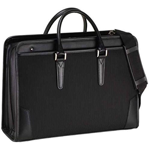 大開きストライプ織ブリーフケース B4ファイル対応 ドクターズバッグ/ダレスバッグ/メンズ/ビジネスバック h22241