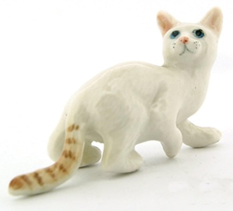 3 D Ceramic Toy White Tabby Bengal Cat No. 2 Dollhouse Miniatures Free Ship by ChangThai Design [並行輸入品]