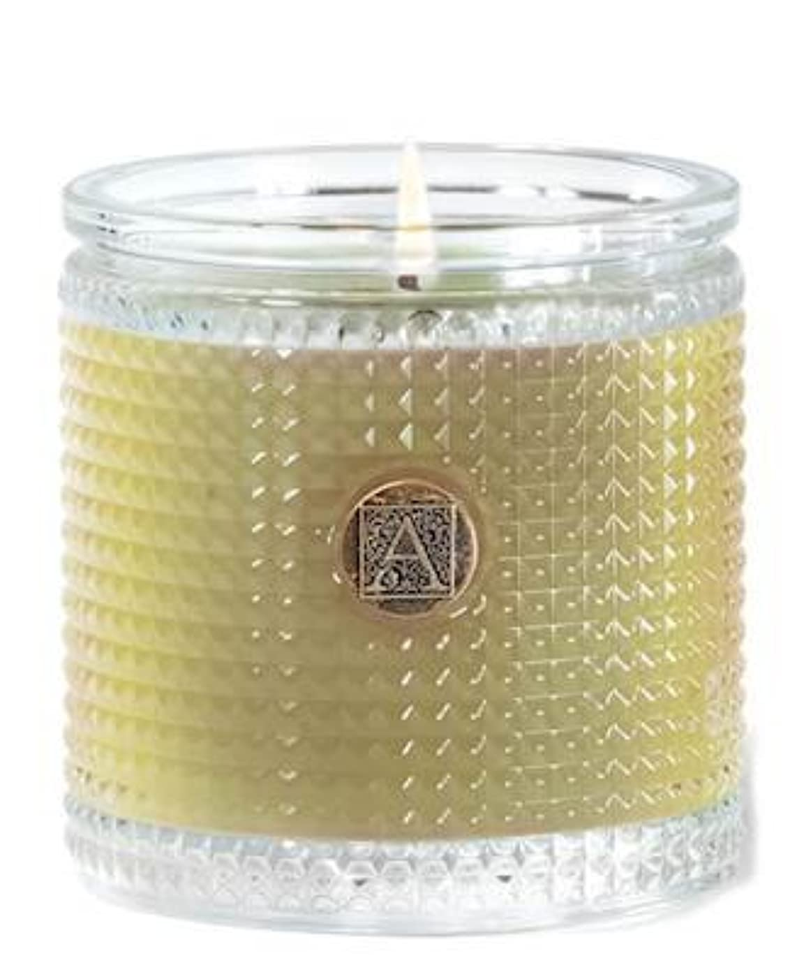 メロン悲しいことにワイヤーGrapefruit Fandango 160ml Textured Glass Candle by Aromatique (1)