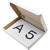 底面A5サイズ 厚み3cm 薄型表白ダンボール箱 10枚セット(内寸220×158×27mm) NO.0271