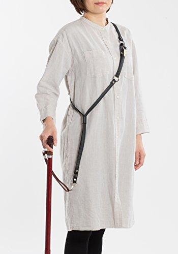 杖用ショルダーベルト ARUKUTOMO/アルクトモ ブラック ステッキ ストラップ ベルト 黒