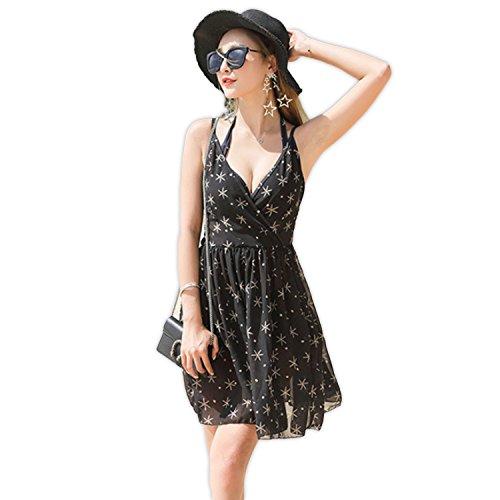 [해외]LOVETIARA 수영복 여성 비키니 체형 커버 2018 봄 여름 3 종 세트 스타 피쉬 프린트 와이어 비키니 + 셔링 원피스 세트 [2 컬러 M ~ XL 사이즈]/LOVETIARA Women`s Bikini Body Cover 2018 Spring | Summer 3 Piece Set Star Fish Print Wire Bikini...