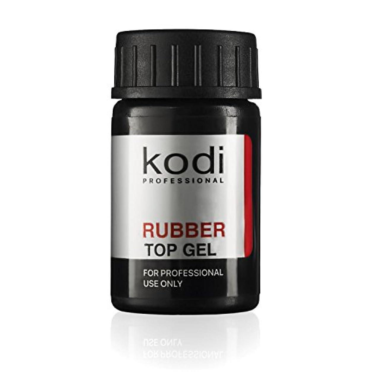 一人で遺跡早熟Professional Rubber Top Gel By Kodi   Soak Off, Polish Fingernails Coat Gel   For Long Lasting Nails Layer   Easy...