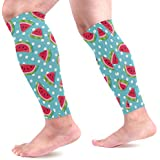 MASSIKOA Fruit Watermelon Sports Calf Compression Sleeves Leg Compression Socks Calf Guard for Running, Cycling, Maternity, Travel, Nurses