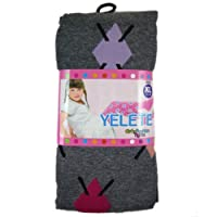 Yeleteガールズファッションタイツレギンスグレーアーガイル( Small )