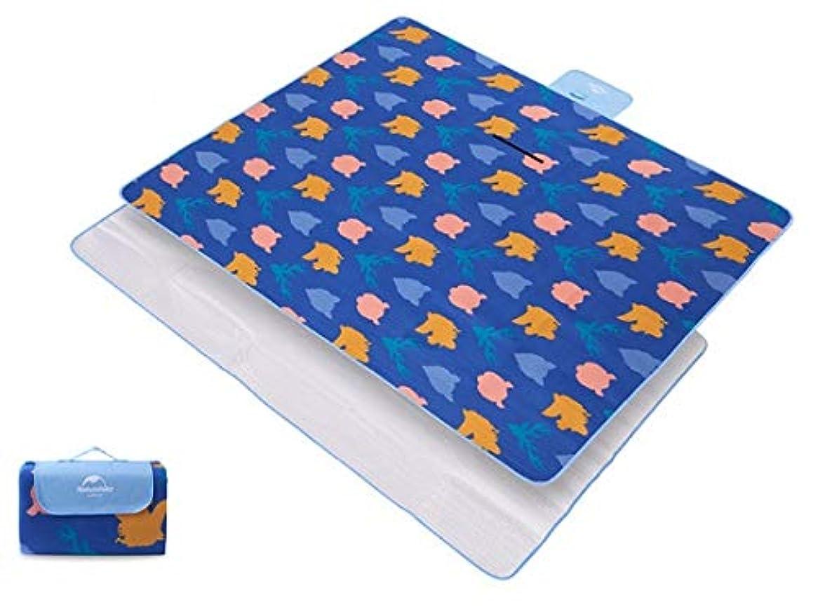 グラフィック公平買い手防湿パッド屋外ピクニックマットピクニックマットポータブル芝生マット防水布肥厚プラスベルベット