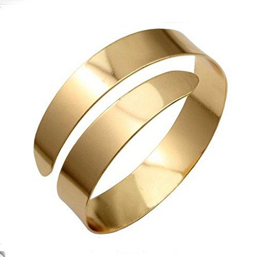 [해외]Baosity 합금 소용돌이 팔찌 커프 팔찌 팔찌 조절 장식 (골드)/Baosity alloy made swirl bangle cuff bangle bracelet adjustable decoration (gold)