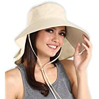 Outdoor Womens Sun Hat with UV Protection - Blocks 95%+ of UV Rays - Packable & Stylish Wide Brim Summer Hats. Perfect for Beach Travels, Hiking, Camping, Boating & Outdoor Adventures