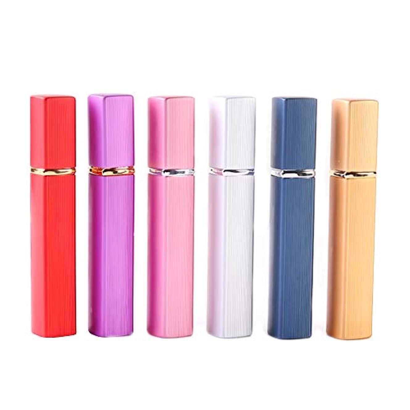 比べるのスコアスリーブアトマイザー 香水 詰め替え容器 スプレーボトル 小分けボトル トラベルボトル 旅行携帯便利 (12ml-6pcs)