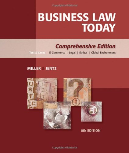 Download Business Law Today: Comprehensive 0324595743