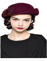 Ammon Lowen ベレー帽 レディース 秋冬 帽子 レディース 小顔効果 防寒 婦人帽 オシャレ
