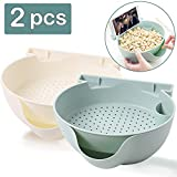 Aulpon Multifunction Snack Storage Bowl Double Dish Nut Bowl with Cellphone Holder Slot Plate Dish Organizer Perfect for Snacks Fruit Pistachio Sunflower Seeds Peanuts Edamame Candies(white and green)
