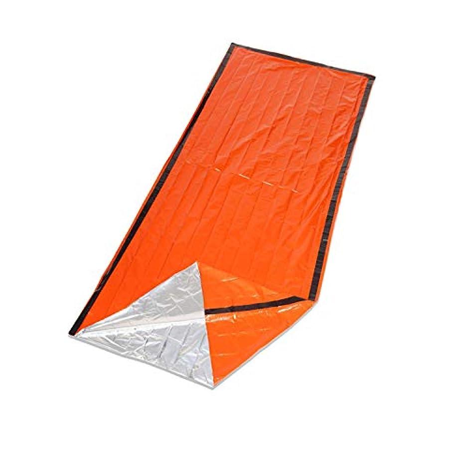 滴下蜜ブレーキエマージェンシーバッグ アウトドア キャンプ ハイキング スリーピングバッグ 熱損失防ぐ オレンジ