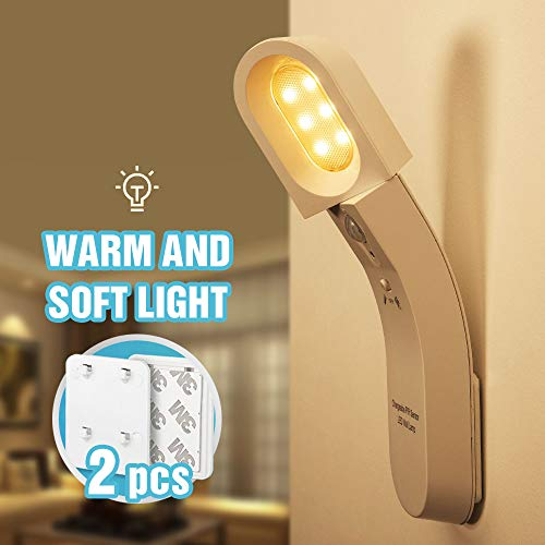 LEDセンサーライト 運動センサー USB充電式 キャビネットライト LED ナイトライト 1800mAhバッテリーナイトライト ベッドサイドランプ 室内夜間照明 夕暮れから夜明けまで 光制御センサー カップ式キッチン 食器棚 階段 寝室