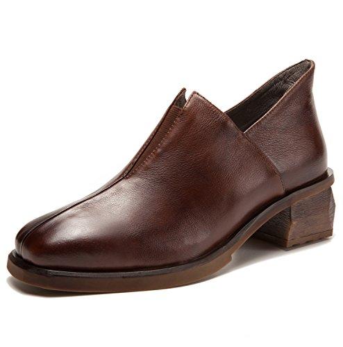 [해외]여성 로퍼 펌프스 운동화 아프지 않은 두께 힐 안락한 지치지 않는 가죽 실내화 예쁜 캐주얼 오피스 데일리/Women`s Loafer pumps walking shoes not painful thick heel easy to walk easy genuine leather slippon legs casual office daily