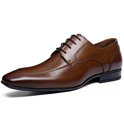 (フォクスセンス) Foxsense ビジネスシューズ 紳士靴 革靴 ロングノーズ 本革 ブラウン 25.5CM 6711