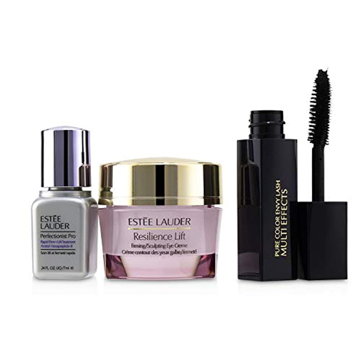 有害な用心するアクセスできないエスティ ローダー Beautiful Eyes (Lift+Firm) Set: Resilience Lift Eye Creme 15ml + Perfectionist Pro 7ml + Pure Color...