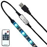 LED TVバックライト、16インチ強力な粘着柔軟なLEDストリップライトUSB電源アンビエント照明のテレビ、1M HDTV Lighting (1M, 10キー コントローラ)