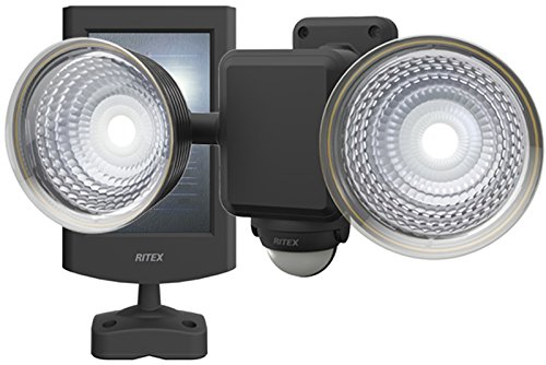 ライテックス 1.3W×2灯 フリーアーム式 LEDソーラーセンサーライト S-25L