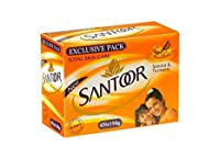 Santoor Sandal and Turmeric Soap (150 g X 4) [並行輸入品]