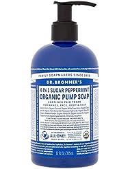 [Dr Bronner] Dr。ブロナーズ有機ポンプ液体石鹸砂糖ペパーミント355ミリリットル - Dr. Bronner's Organic Pump Liquid Soap Sugar Peppermint 355ml...
