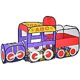 子供用プレイテントトンネル 赤ちゃんプレイハウス 屋内遊園地 簡単折りたたみ式クローリング 76 * 200 * 125cm ブルー
