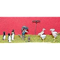 LangleyモデルCircus動物園Flamingo Owls VulturesペンギンOOスケール未塗装キットベット