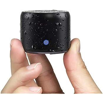 【旅行用EVAケース付き】EWA A106 ポータブル ミニ ワイヤレス Bluetooth スピーカー 【超小型/コンパクト/パッシブラジエータ搭載/強化された低音/車載、風呂用 / メーカー1年保証付き / 多言語取扱説明書】(ブラック)