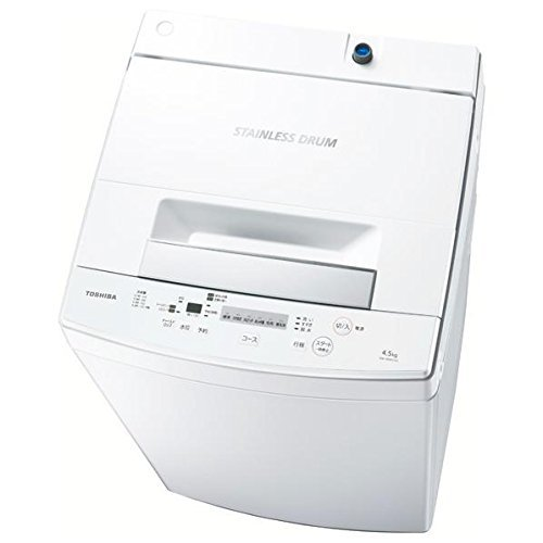 東芝 全自動洗濯機 4.5kg ピュアホワイト AW-45M5 W...