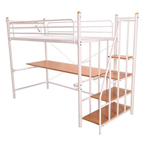 UNE BONNE(ウネボネ)2段ベッド 下段は勉強机 階段付き・コンセント付き