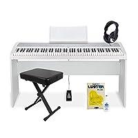 KORG B1WH スタンド・イス・ヘッドホンセット(お手入れセット付き) 電子ピアノ 88鍵盤 (コルグ) オンラインストア限定